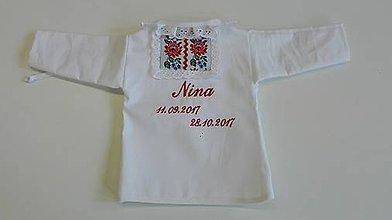 Detské oblečenie - Košeľka na krst - folk - 8972350_