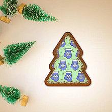 Dekorácie - Digitálna poleva na zdobenie medovníkov stracciatella - rukavica vločka (vianočný stromček) - 8970821_