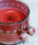 Náušnice - Červené jabĺčka - 8974332_