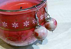 Náušnice - Červené jabĺčka - 8974334_