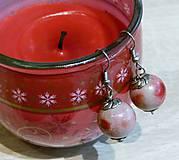 Náušnice - Červené jabĺčka - 8974335_