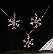 Sady šperkov - Ružové vločky - 8974257_