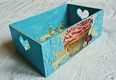 """Nádoby - Bednička """"Strawberry Cup Cake"""" - 8974354_"""