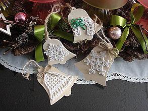 """Dekorácie - kolekcia """"vianočne drevené ozdoby lll."""" - 8973540_"""