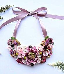 Náhrdelníky - Kvetinový náhrdelník - 8972914_