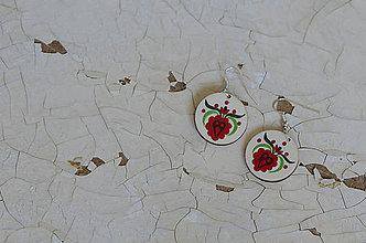 Náušnice - NA DREVE MAĽOVANÉ (Pestrofarebná) - 8975166_