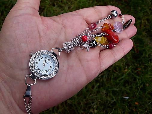 Dámske hodinky na krk s minerálmi   Tajanna - SAShE.sk - Handmade ... 796bb606e11