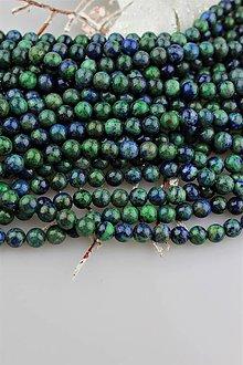 Minerály - fenix korálky 8mm AKCIA! (lapis lazuli s malachitom) - 8973896_