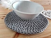 Úžitkový textil - Prestieranie Scandinavia šedé - 8972856_