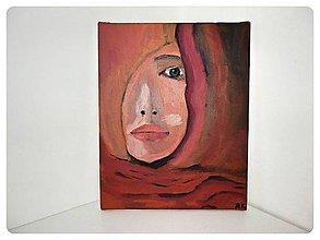 Obrazy - Obraz akryl na plátne originál - Žena spoza závoja - 8974173_