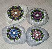Dekorácie - Gaderská štvorka - Na kameni maľované (Modrá) - 8975149_