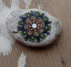 Dekorácie - Gaderská štvorka - Na kameni maľované (Oranžová) - 8974211_