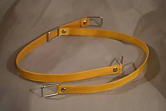 Kožená ucha na kabelky (žltá) - polotovar