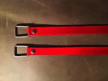 Kožená ucha na kabelku ( červená ) - polotovar