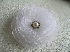 Ozdoby do vlasov - biely kvet do vlasov - 8975449_