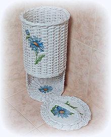 Košíky - Zásobník - Bielo modrý - 8973878_