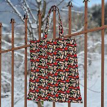 Nákupné tašky - Nákupná taška líšky (predĺžené rúčky) - 8974078_