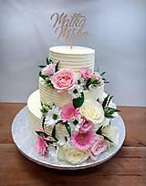Dekorácie - Zápich na svadobnú tortu II - 8977429_