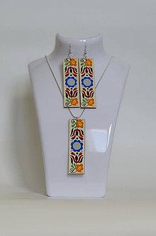 Sady šperkov - NA DREVE MAĽOVANÉ /sada (Pestrofarebná) - 8976194_