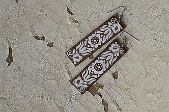 Sady šperkov - NA DREVE MAĽOVANÉ /sada (Biela) - 8976200_