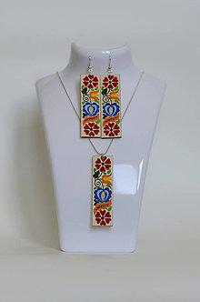Sady šperkov - NA DREVE MAĽOVANÉ /sada (Pestrofarebná) - 8976204_