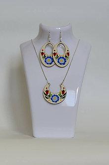 Sady šperkov - NA DREVE MAĽOVANÉ /sada (Pestrofarebná) - 8976218_