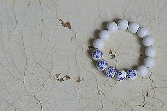 Náramky - PORCELÁNOVÝ NÁRAMOK (Biela) - 8976238_