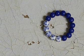 Náramky - PORCELÁNOVÝ NÁRAMOK (Modrá) - 8976239_