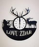 Hodiny - Poľovnícke hodiny - Lovu zdar - 8975650_
