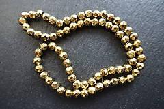 - Hematit zlatý fazetovaný 6mm II - 8977022_