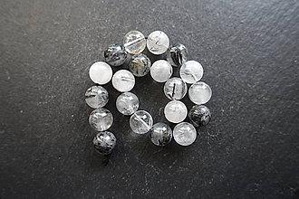 Minerály - Skoryl v krištáli 10mm - 8976757_