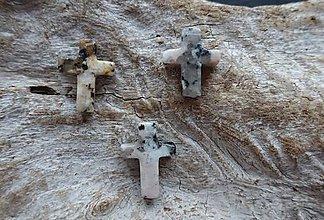 Minerály - Jaspis zebra krížik - 8977873_