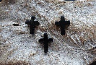 Minerály - Achát čierny krížik - 8977884_