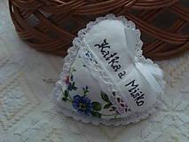 Darčeky pre svadobčanov - Svadobné srdiečko - 8975797_