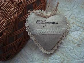 Darčeky pre svadobčanov - Svadobné srdiečka plátené - 8975798_
