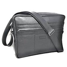 Tašky - Kožená taška XL na dokumenty A4 (na ležato) - 8978138_