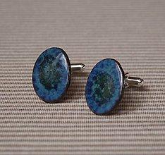 Šperky - Keramické manžetové gombíky - Elipsa - 8980078_