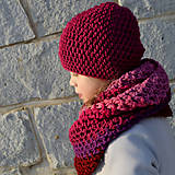 Detské čiapky - dievčenská čiapka BORDO - 8979238_