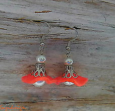Náušnice - drobné lososové zvončeky - 8978393_
