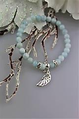 Náramky - akvamarín anjelský náramok v striebre - 8978529_
