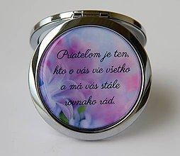 Zrkadielka - Zrkadielko s citátom pre priateľku - 8979510_