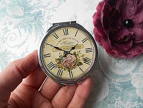 Zrkadielka - Zrkadielko s hodinkami - 8978786_