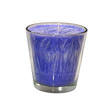 Svietidlá a sviečky - Čakrová sviečka 7.korunná čakra sklo - 8979253_