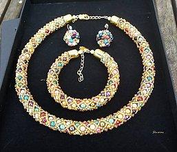 Sady šperkov - Sada COLORAMA GOLDEN NET - 8978913_
