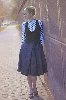 Sukne - Sukně ELIS, šedý tvíd - 8982159_