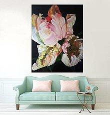 Obrazy - Papagáj tulipány - 8980322_