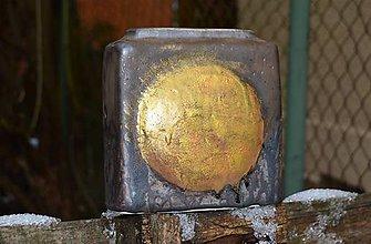 Dekorácie - váza bronzovo zlatá