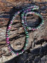 Rubín v zoisite sada - náhrdelník a náramok