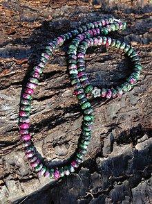 Sady šperkov - Rubín v zoisite sada - náhrdelník a náramok - 8981040_