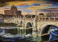 Obrazy - spomienky na Rím - Anjelský most - 8980308_